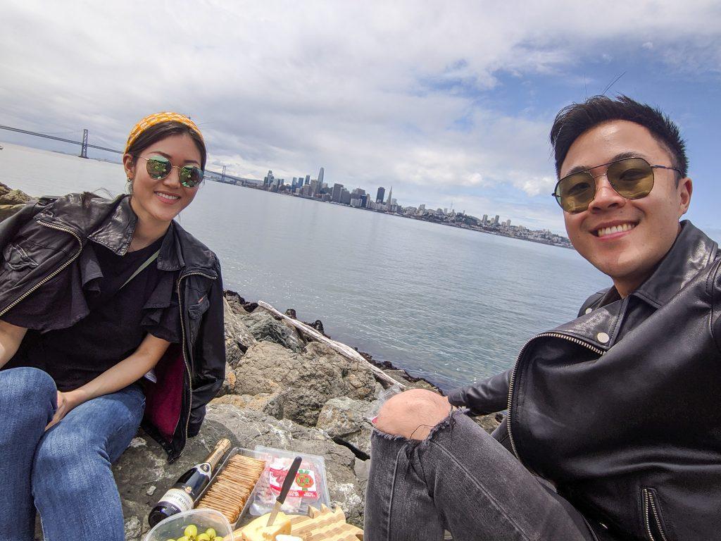 Picnic in Alameda SF Bay Area romantic getaways